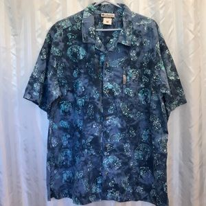 Columbia men's size XL short sleeves button down